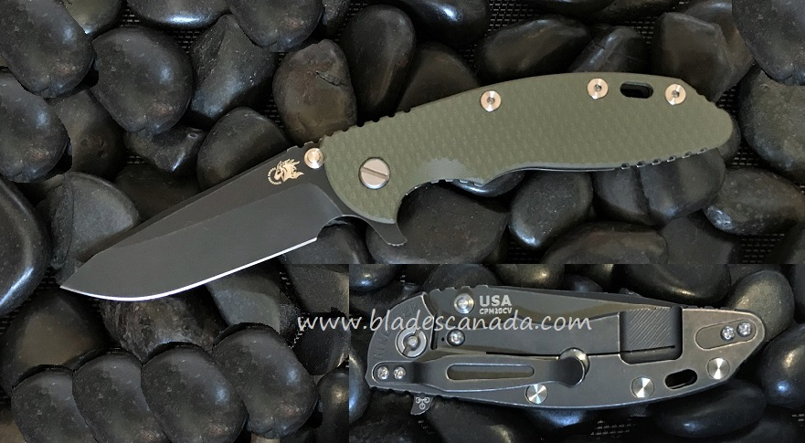 Hinderer XM-18 3.5 Gen 6 Spearpoint Battle Black - OD Green G-10