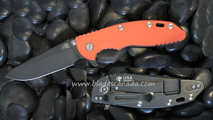 Hinderer XM-18 3.5 Gen 6 Spearpoint Battle Black - Orange G-10