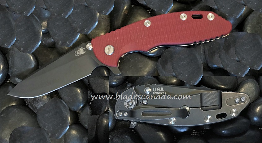 Hinderer XM-18 3.5 Gen 6 Spearpoint Battle Black - Red G-10