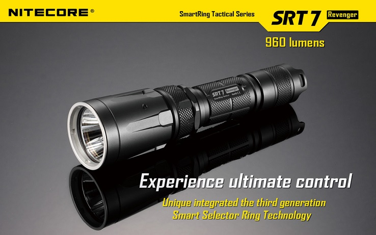 Nitecore SRT7 Revenger 960 Lumens w/ RGB Colours - Black Finish