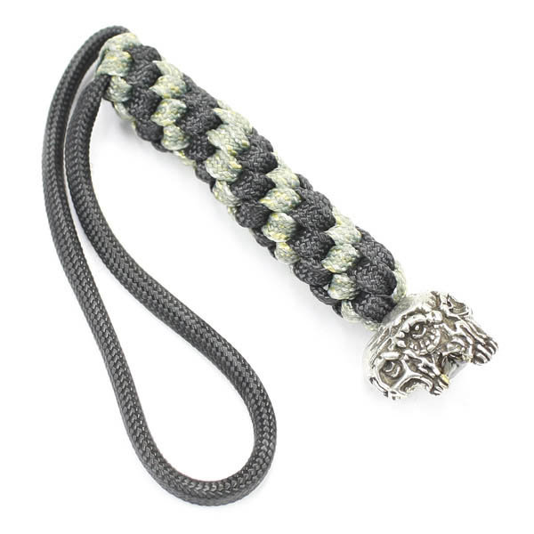 Schmuckatelli Co. Gemini Bead Pewter with Digi Lanyard