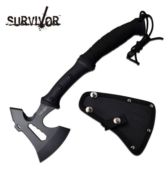 MC Survivor Axe Black w/ Nylon Sheath SVAXE001BK (Online Only)