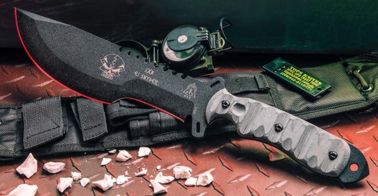 TOPS SXB10 SkullCrusher's X-Treme w/Nylon Sheath