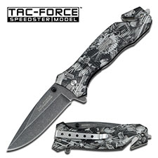 Tac Force 434GYGC Machine Camo Assisted Opening (Online Only)