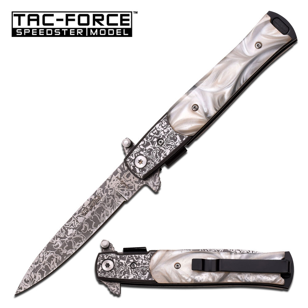 Tac Force TF428DMP Damascus Etched Assisted (Online Only)