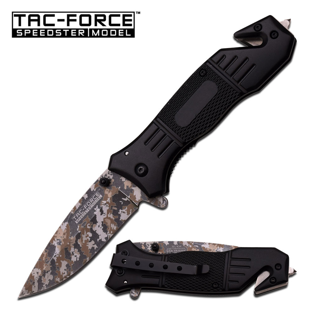 Tac Force 434LC Camo Blade Assisted Opening (Online Only)