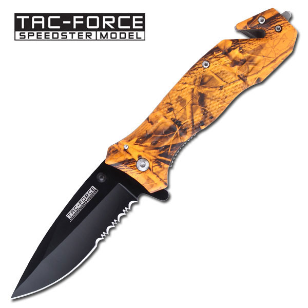 Tac Force 434OC Orange Camo Assisted Opening (Online Only)