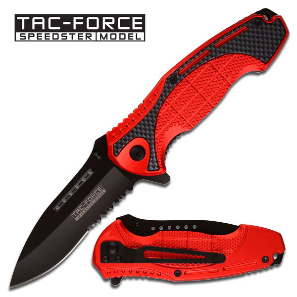 Tac Force TF689RD Red Folder Aluminum Handle (Online Only)