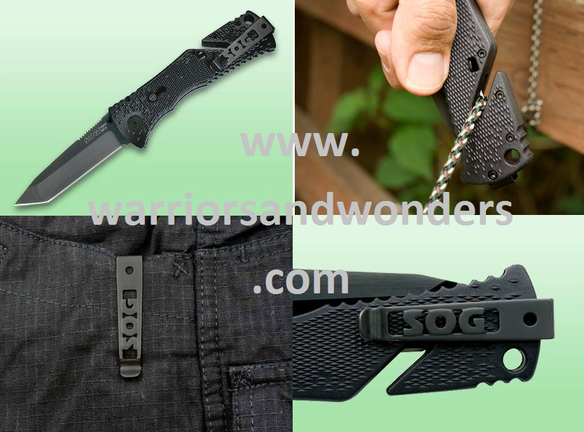 SOG TF7 Trident Tanto (Black TiNi) Assisted Opening (Online)
