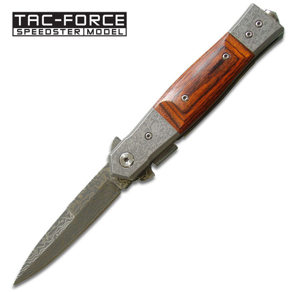 Tac Force TF701WD Damascus Etched Folder (Online Only)