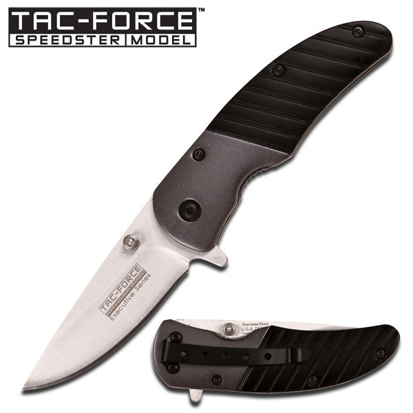Tac Force 732BK Executive Folder Black Assisted Opening (Online)