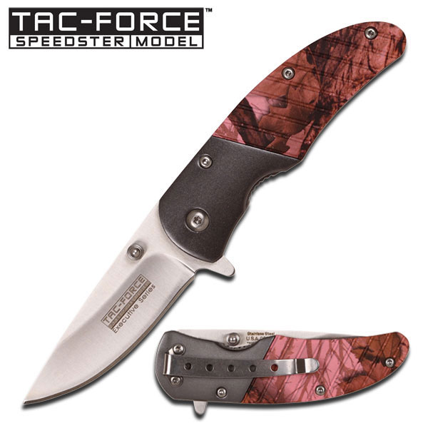 Tac Force TF732PC Pink Camo Assisted Opening (Online Only)