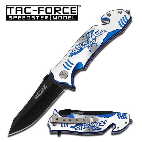 Tac Force TF806BL Blue Eagle Assisted Opening (Online Only)