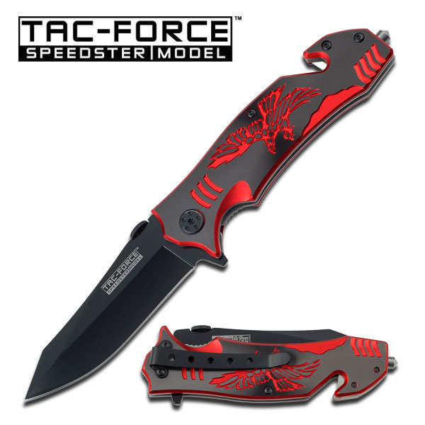 Tac Force TF806BR Red Eagle Assisted Opening (Online Only)
