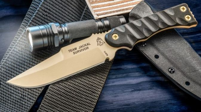 TOPS TMJK-5S Team Jackal Survivor w/Kydex Sheath