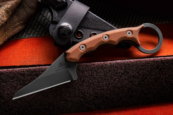 Tops TPKR-01 Poker Kiridashi Karambit w/ Kydex Sheath
