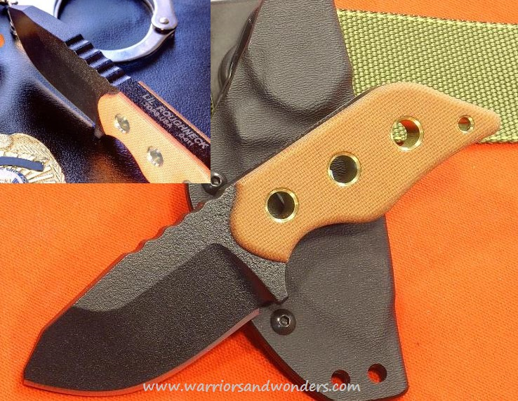 "TOPS LRNK01 Lil Roughneck 3/8"" Thick w/Kydex Sheath"