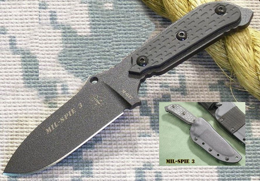 TOPS MIL03 Mil-Spie 3 w/Kydex Sheath