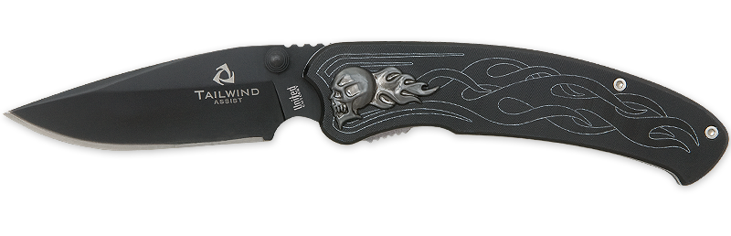United Cutlery 2690 Tailwind Nova Skull Black PlainEdge Assisted