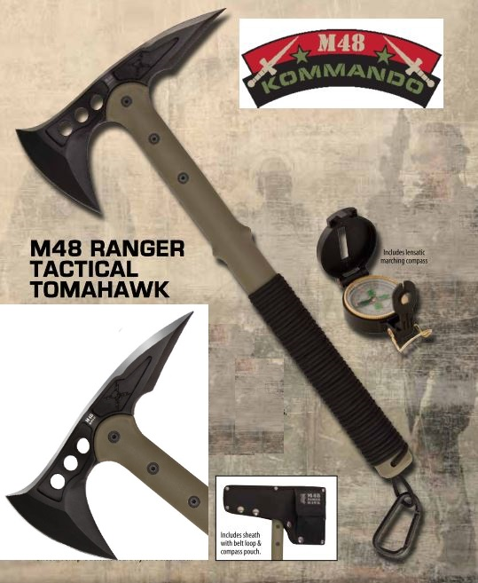 United M48 2836 Ranger Hawk w/Compass OD Green (Online Only)