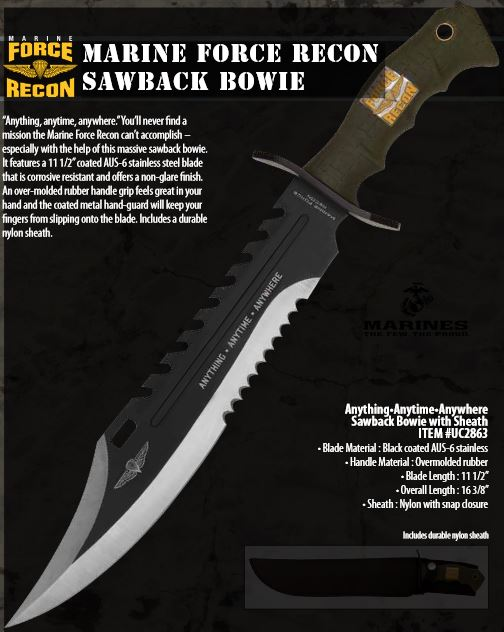United 2863 Marine Force Recon Sawback Bowie (Online Only)