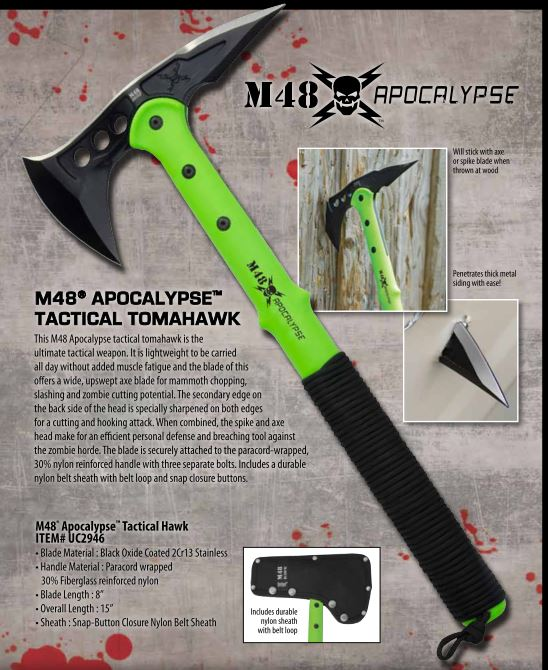 United M48 Apocalypse Tactical Tomahawk UC2946 (Online Only)