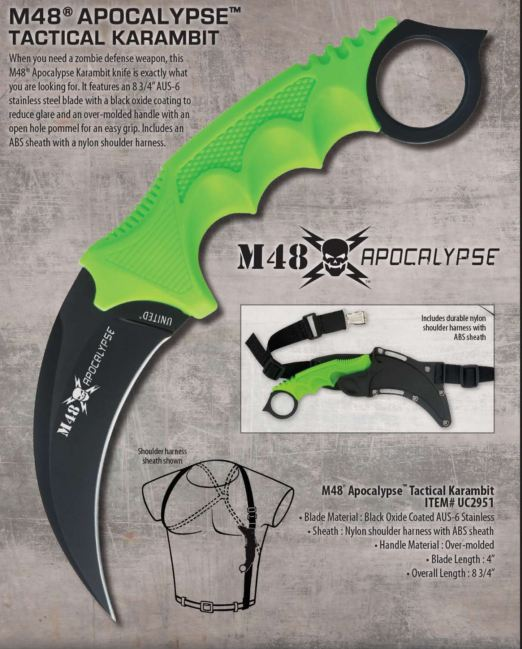 United M48 Apocalypse Karambit w/Harness 2951 (Online Only)