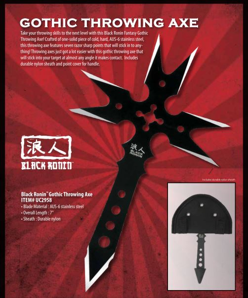 United 2958 Gothic Throwing Axe (Online Only)