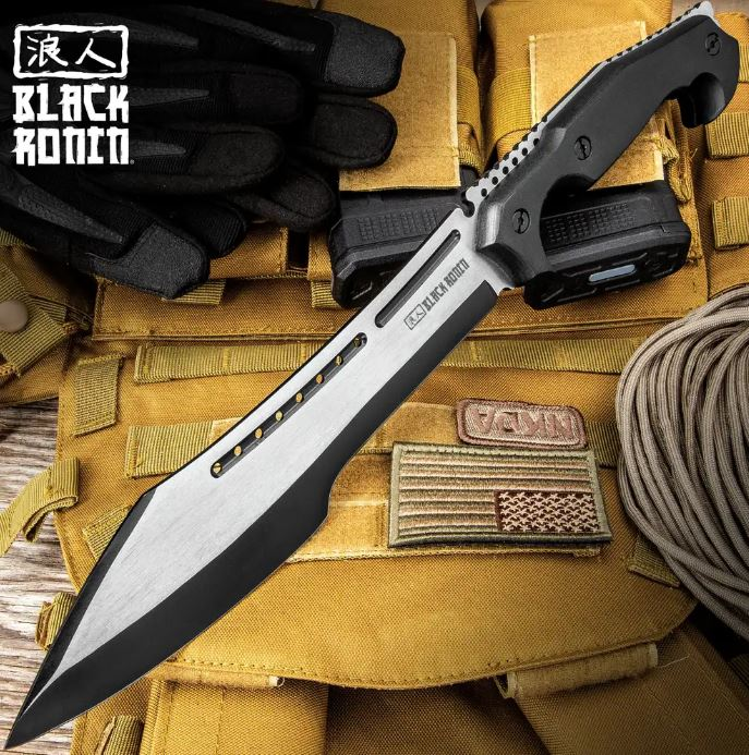 UC Black Ronin Stealth Machete w/Nylon Sheath, UC3396