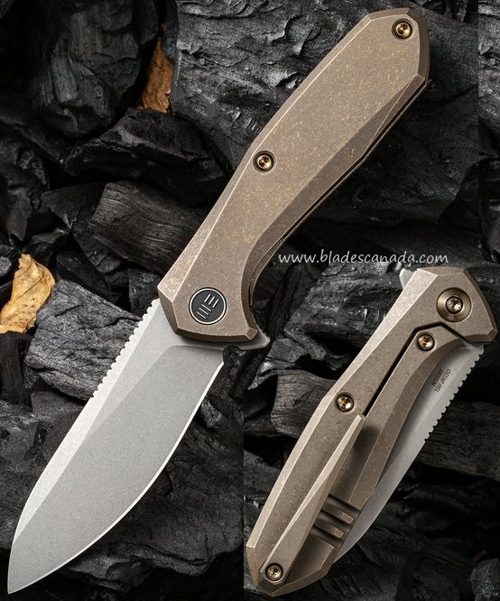 WE Knife Mote Framlock Flipper Folder, S35VN, Titanium, WE2005A