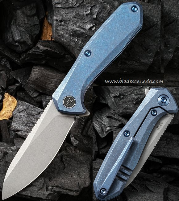 WE Knife Mote Framelock Flipper Folder, S35VN, Blue Titanium, WE2005B