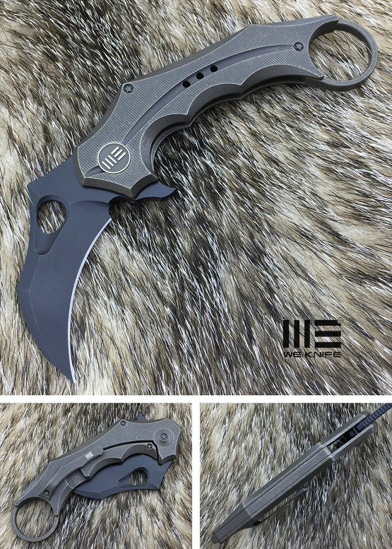 WE Knife 708E Karambit Black S35VN Titanium Framelock - Bronze