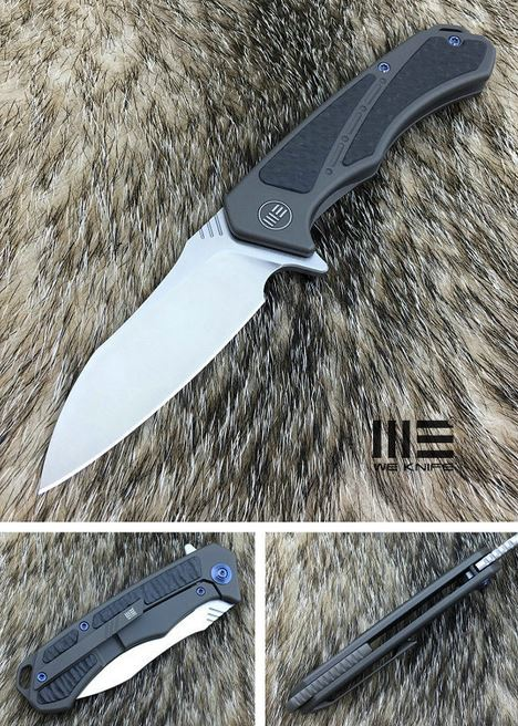 WE Knife 801F Minitor M390, Carbon Fiber/Gunmetal Ti