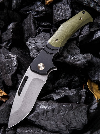 WE Knife 904A JIXX M390 OD Green G10 & Titanium