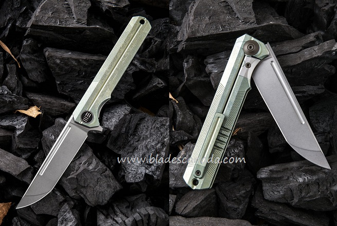 WE Knife 909A Syncro S35VN Titanium Framelock- Green (Online Only)