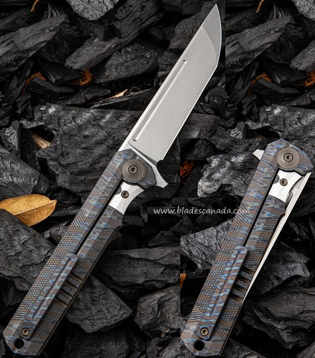 WE Knife 909D Syncro S35VN Titanium Framelock - Flame (Online Only)