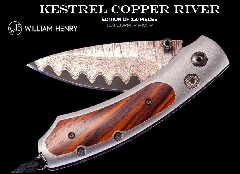 William Henry B09 Kestrel Copper River VG5 Damascus
