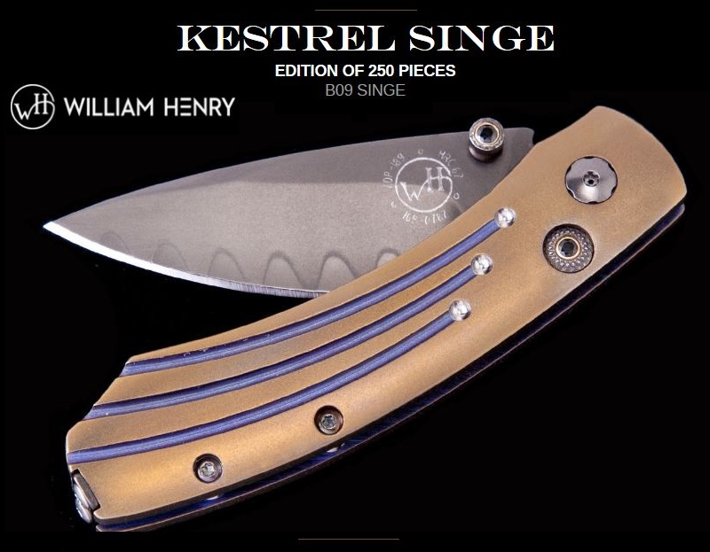 William Henry B09 Kestrel Singe ZDP189 Laminate
