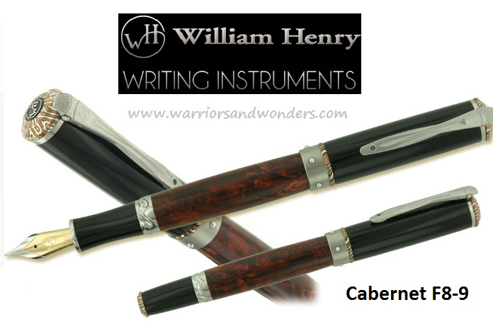 William Henry Cabernet F8-9 Fountain Pen