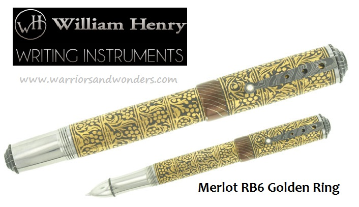 William Henry Merlot RB6 - Golden Ring Pen (Online Only)