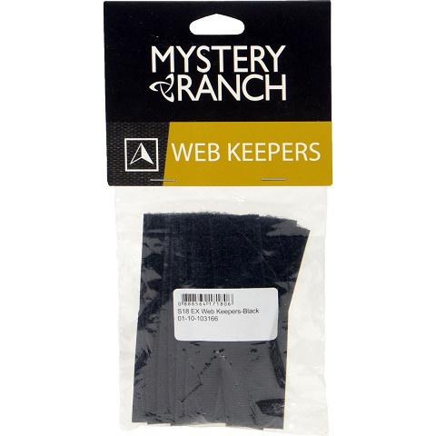 Mystery Ranch Web Keepers - Black [10 Pack]