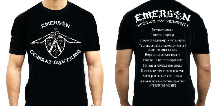 Emerson T-Shirt Warrior Commandments