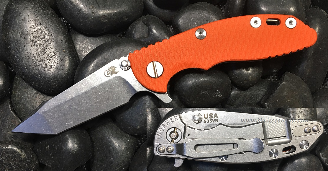 Hinderer XM-18 3.0 Harpoon Tanto SW - Orange G10 (Online Only)