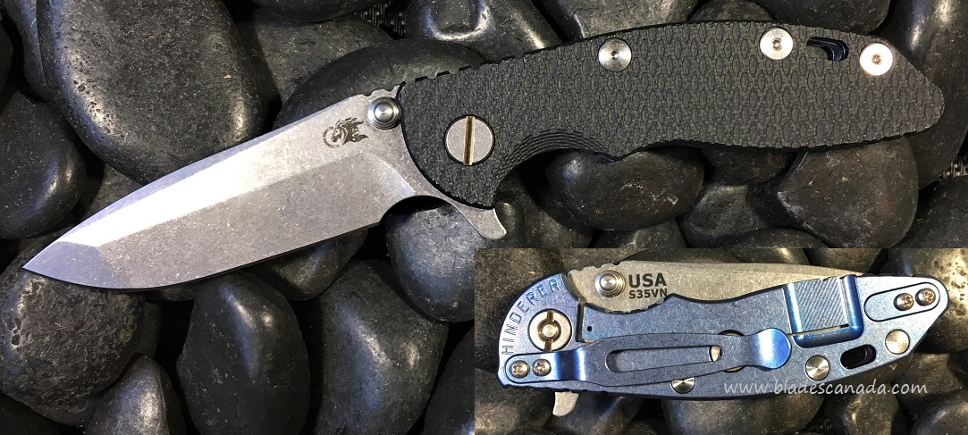 Hinderer XM-18 3.0 Spanto SW - Blue Ano/Black G10 (Online Only)