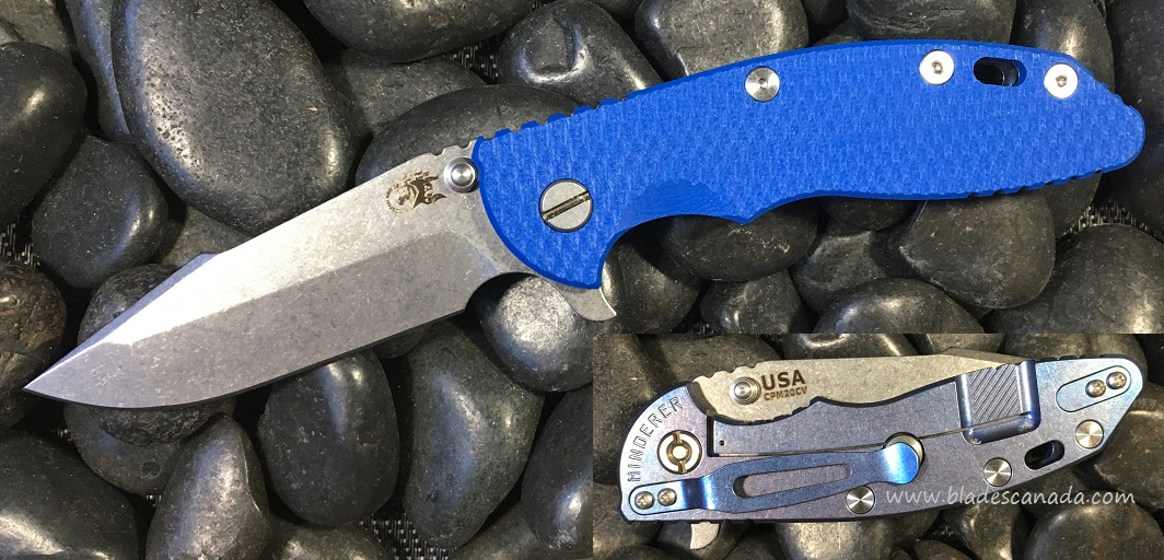Hinderer XM-18 3.5 Harpoon Spanto SW - Blue Ano/Blue (Online)