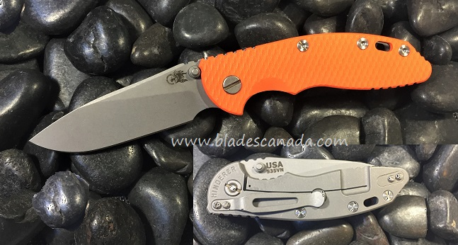 Hinderer XM-18 3.5 Slicer WF No Flipper - Orange G10