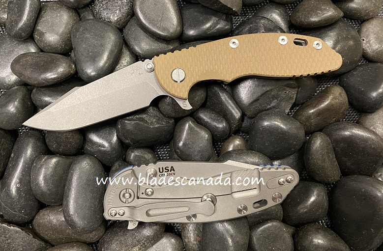 Hinderer XM-18 3.5 Gen 6 Skinny Harpoon Spanto Working Finish - Coyote G10