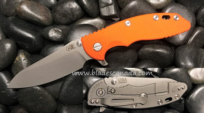 Hinderer XM-18 3.5 Gen 6 Skinny Sheepsfoot WF - Orange G-10