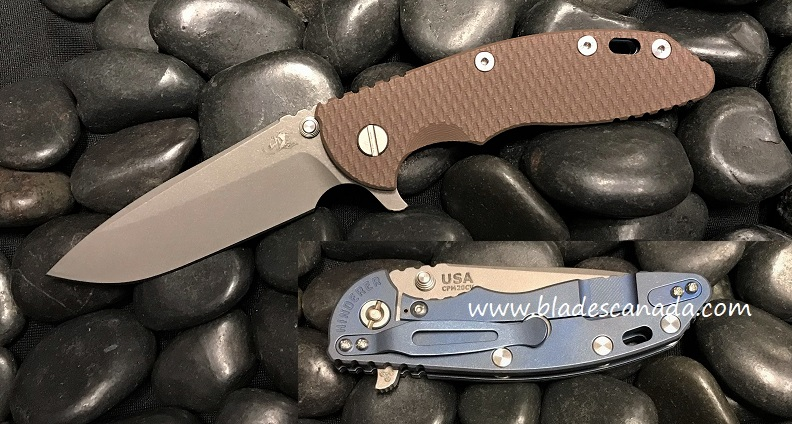 Hinderer XM-18 3.5 Gen 6 Spearpoint WF - Battle Blue/ FDE G-10