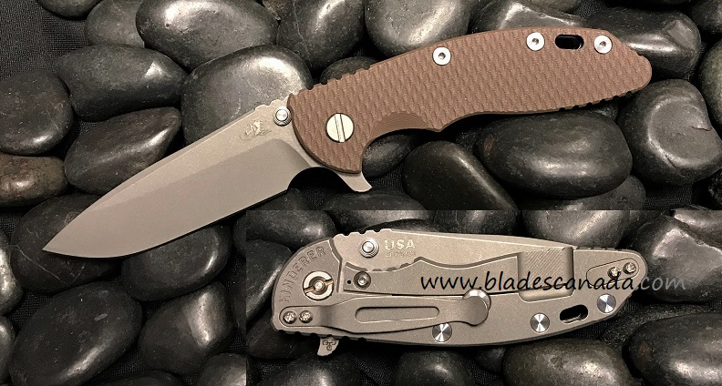 Hinderer XM-18 3.5 Gen 6 Spearpoint Working Finish- FDE G-10